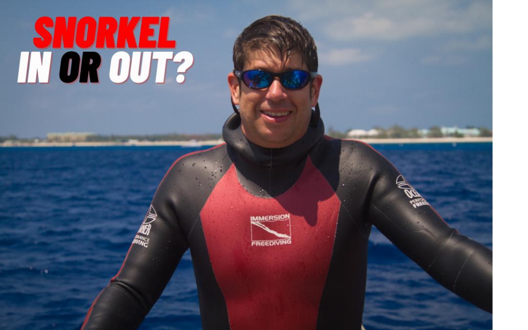 Snorkel debate – should the snorkel be in or out?